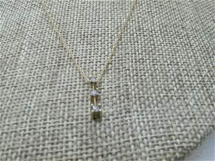 """Vintage 14kt Diamond Journey Necklace, 18"""""""