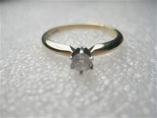 18kt & Platinum Diamond Engagement Ring, .33 ctw sz7.75