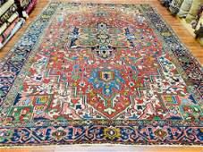 Colorful Antique persian Heriz Rug-4707