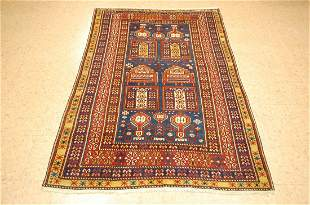 Pre 1900's ANTIQUE CAUCASIAN SHIRVAN RUG 3.9x6.5 FROM A