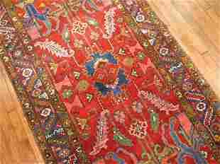 Colorful Wide Persian Heriz Runner