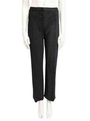 Pinstripe trousers in black wool blend Size M