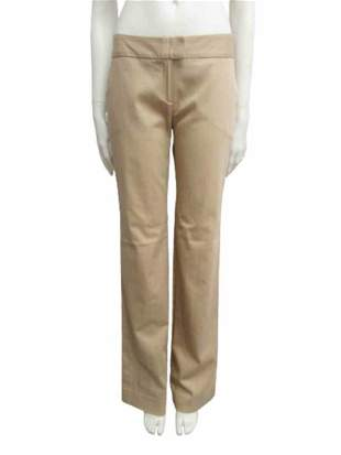 Beige cotton blend trousers Size M