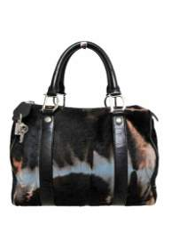 "Handbag ""Boston"" in multicolored pony fur"