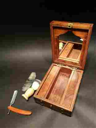Shaving Mirror Box Travel Set
