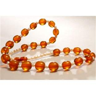 40g Vintage natural Baltic amber necklace pearls