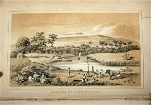1854 1st Ed. Book Na Motu Reef Rovings S. Seas Perkins