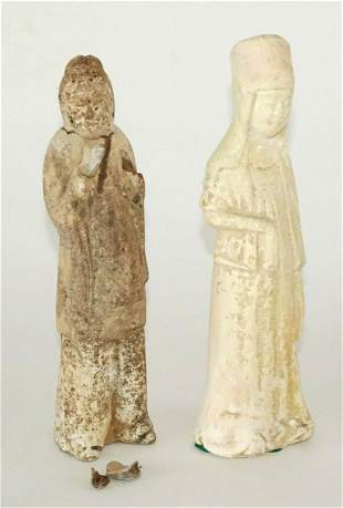 Chinese Tang Six Dynasties N. Wei Attendant Figurines