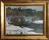 Oil painting Winter landscape Zaretsky Victor Ivanovich