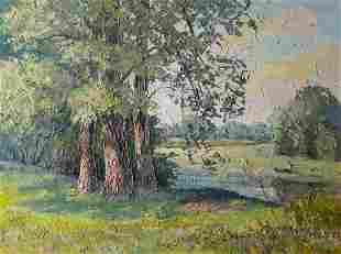 Oil painting Three poplars Serdyuk Boris Petrovich