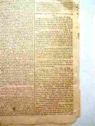 1803 Newspaper Louisiana Purchase