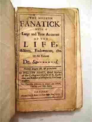 1715 The Modern Fanatick Henry Sacheverell