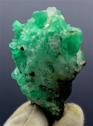 Natural Emerald Crystals Cluster Mineral Specimen - 141