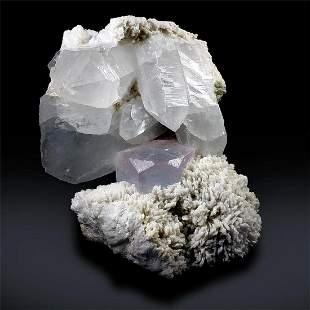 Morganite Specimen with Quartz and Albite from Skardu