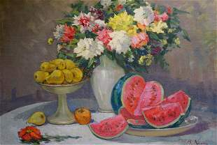 Oil painting Still life with watermelons Kisil V.