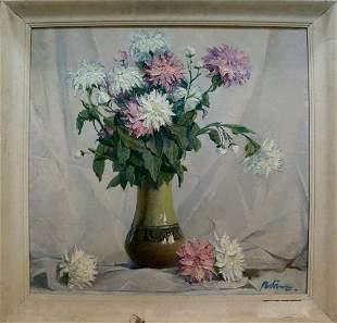 Oil painting Flowers Titov Y. V.