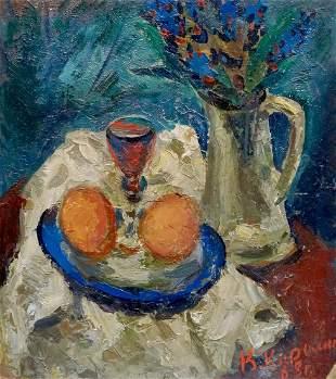 Oil painting Still life Karelin Vyacheslav