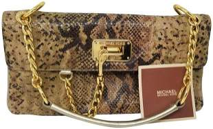 Michael Kors Snake Skin Python Shoulder Bag