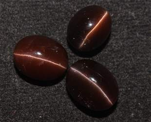 16.58 Cts Natural Scapolite Cat's-Eye Lot