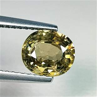 1.77 ct Natural Zircon Oval Cut
