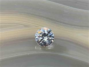Zircon Round .79 Carats Loose Gemstone