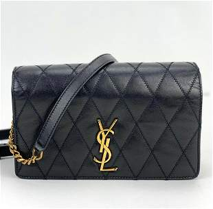 Yves Saint Laurent Angie Crossbody Clutch Bag Black