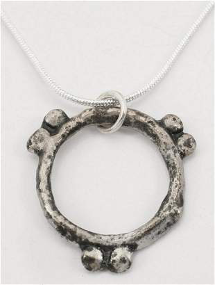 RARE VARIANT CELTIC PROSPERITY RING NECKLACE