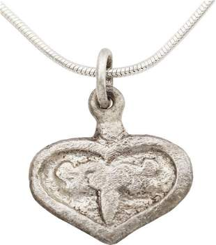 FINE VIKING HEART NECKLACE C.900-1050 AD