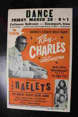 Ray Charles - Coliseum Ballroom, Davenport IA. (1959)