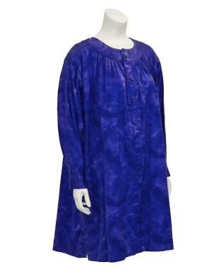Yves Saint Laurent Blue Dip Dyed Smock Dress