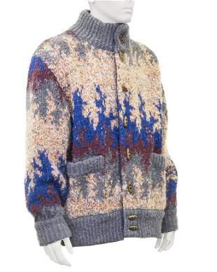 Missoni Blue Reversible Missoni Knit Bomber Jacket