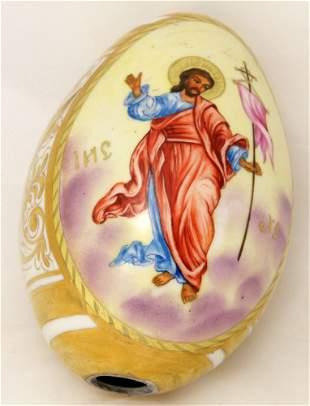 Easter porcelain egg