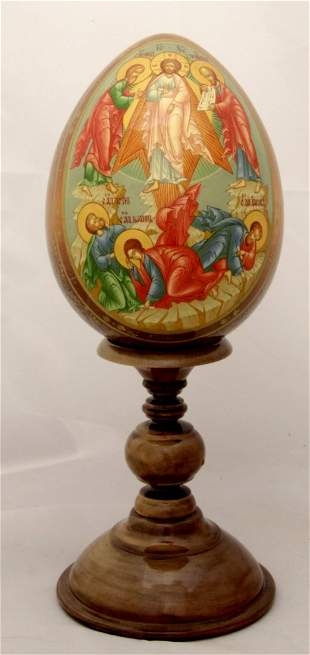 Wooden egg Transfiguration of Jesus Christ