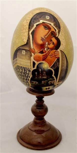 Wooden egg Our Lady Korsunskaya