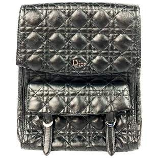Christian Dior Stardust Black Leather Cannage Qulit