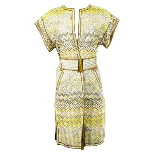 Vintage Missoni Multi Color Coat Cover Up Mini Dress w/