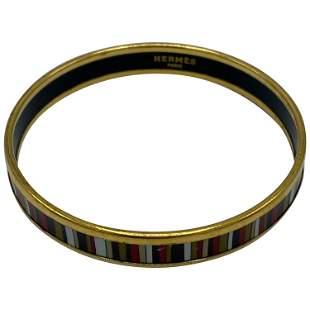 Vintage Hermes Enamel Bangle Bracelet
