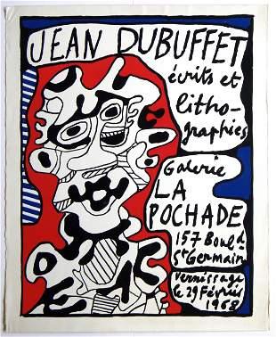 "Jean Dubuffet original lithograph ""La Pochade"""