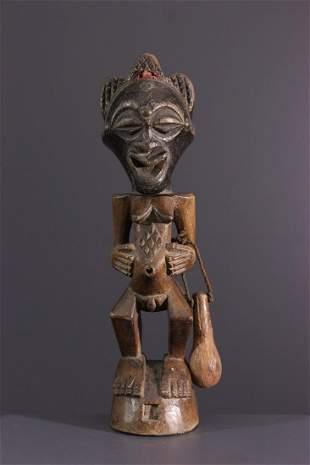 Songye Nkisi fetish wood statue - DRC Congo - African