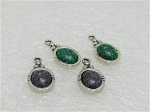 4 Sterling Carolyn Pollack Relios Pendants/Earri; ng,