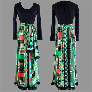 Vtg 70s Maxi dress by Miss Eileen Boho chic Hostess
