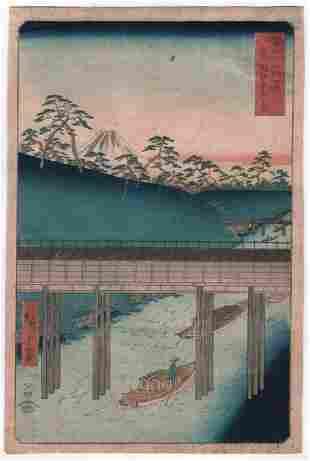 Ando Hiroshige: Ochanomizu in Edo (Toto Ochanomizu)