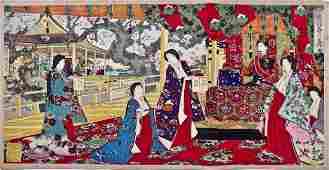 Chikanobu: Emperor and Empress