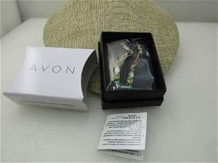 Avon Rainbow Riches Rhinestone Pierced Earrings, Long,