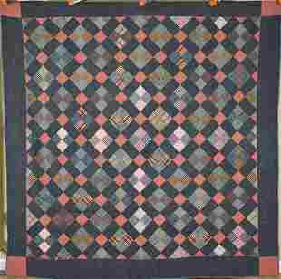 1890's PA Mennonite 4-Patch Quilt