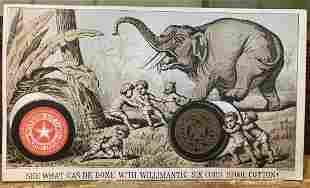 JUMBO WILLIMANTIC THREAD advertising 1879 CINCINNATI
