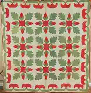 1850's Acorn & Oak Leaf Applique Quilt