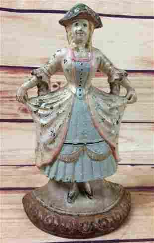 Antique Hubley Cast Iron French Girl DoorStop