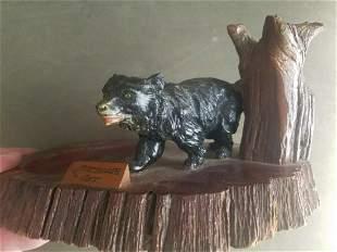 Carved wood black bear souvenir Canada Mattalia