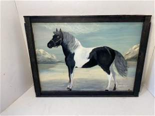 Folk Art Horse Painting
